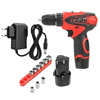 12V-Schnurlose-Bohrmaschine-Schraubendreher-Drill-Screwdriver-Rotary-Drill-Tools-Akku-betrieben