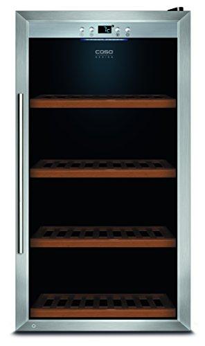 CASO-WineSafe-75-Design-Weinkhlschrank-fr-bis-zu-75-Flaschen-bis-zu-310-mm-Hhe-eine-Temperaturzone-5-20C-fr-Rotwein-oder-Weiwein-Getrnkekhlschrank-Energieklasse-A