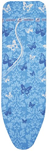 Leifheit 72262 Air Board Thermo Reflect m Vs Bügeltischbezug, Stoff, Butterflies blau, 125 x 40 x 1 cm