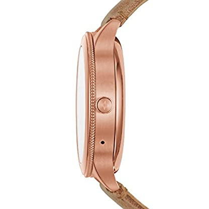 Fossil-Damen-Smartwatch-Q-Venture-3-Generation-Leder-Sand-Moderne-Smartwatch-mit-Lederarmband-im-Vintage-Design-Fr-Android-IOS