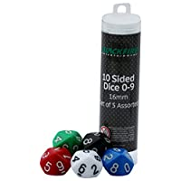 ADC-Blackfire-Entertainment-91494-Wrfel-16-mm-Assorted-D10-Dice-0-9-5-Stck