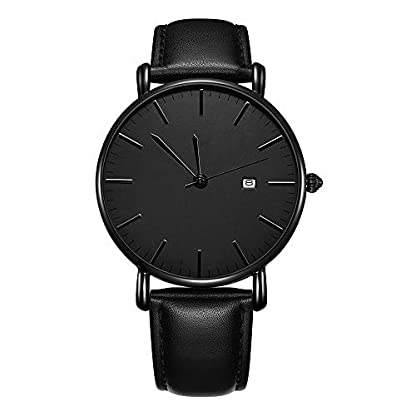 RainBabe-Armbanduhr-Mnner-Analog-Leder-Slim-Armband-Bussiness-Quarzuhren-Geschenk-fr-Geschenk-Herren