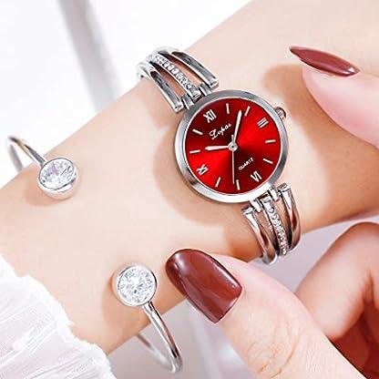 Damen-Armbanduhr-Analog-QuarzEvansamp-Fashion-Simple-Dial-Inlaid-With-Rhinestone-Stainless-Steel-Watch-Ladies-Quartz-Watch