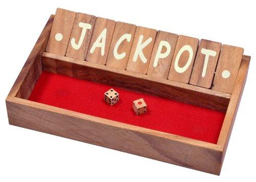 Logoplay-Holzspiele-Jackpot-Shut-the-Box-Klappenspiel-Wrfelspiel-Gesellschaftsspiel-Spielbox-aus-Holz