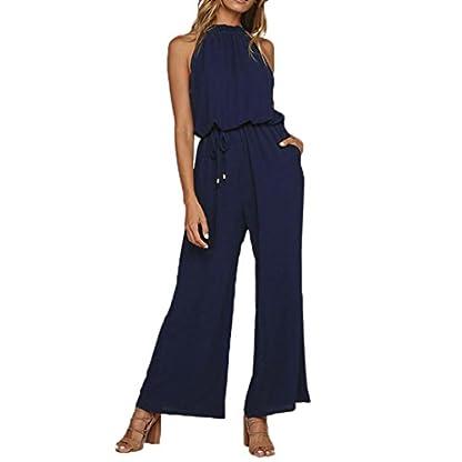 Damen-Tshirt-Oberteile-Elegant-Sommer-Jumpsuits-Overall-Halter-Chiffon-Off-Cold-Shoulder-Overalls-Body-Playsuits