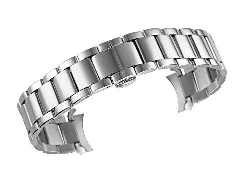 Uhrenarmbnder-High-End-Edelstahl-festen-Links-gebogenes-Ende