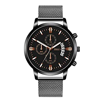 Armbanduhr-mnner-Liusdh-Uhren-Luxus-Multi-Dial-Single-Kalender-weien-Zeiger-mit-Edelstahlband-zu-sehen-uhr