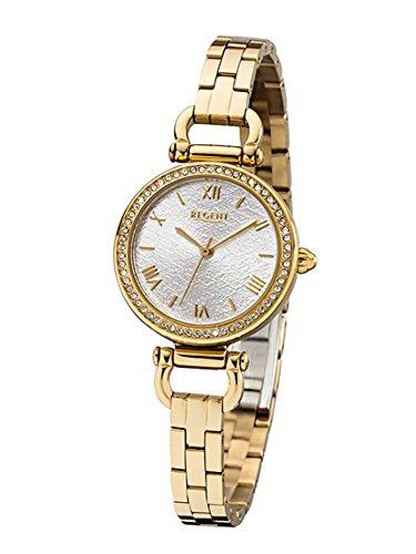 REGENT-Damen-Analog-Quarz-Uhr-mit-Edelstahl-Armband-12210972