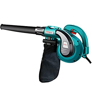 GSEEN-Elektrischer-Laubgeblse-mit-Variabler-Geschwindigkeit-elektrische-Luftgeblse-Garten-Vakuum-Mulcher-Haushaltsreinigungsmaschine-blau