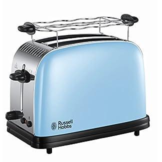 Russell-Hobbs-23335-56-Toaster-Colours-Plus-Heavenly-Blue-Schnell-Toast-Technologie-Brtchenaufsatz-1670-Watt-blau