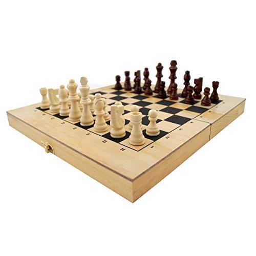 PrimoLiving-XXL-Holz-Backgammon-Schach-50-x-47-cm-klappbar-P-253-inkl-Schachfiguren
