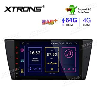 XTRONS-9-Android-90-4GB-RAM-64GB-ROM-Autoradio-mit-Touch-Screen-Octa-Core-Multimedia-Player-untersttzt-4G-WiFi-Bluetooth-DAB-OBD2-TPMS-Musik-Streaming-Plug-und-Play-FR-BMW-E90-E92-E93