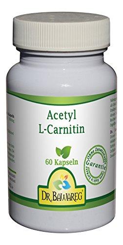 Acetyl-L-Carnitin – 60 Vegi-Kapseln – je 500mg – ALC – ohne Zusatzstoffe – Dr. Bawareg