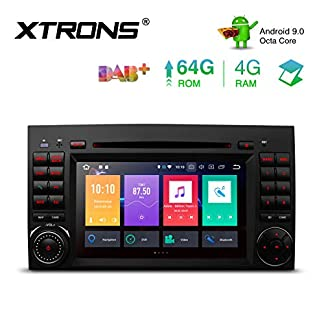 XTRONS-7-Android-4GB-RAM-64GB-ROM-Octa-Core-Autoradio-mit-Touchscreen-Android-90-DVD-Player-Autostereo-untersttzt-3G-4G-Bluetooth-DAB-OBD2-CAR-Auto-Play-TPMS-FR-Mercedes-Benz