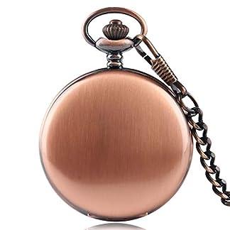 Herren-Taschenuhr-Vintage-Rose-Kupfer-Glatte-Schlagflche-Schlsselanhnger-Kette-Taschenuhr-Quarz-Geschenke-fr-Mnner