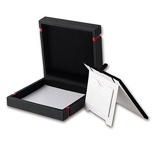 IMPPAC Schmuck Schachtel Etui schwarz Geschenk- Universal Verpackung Schmuckschachtel 92x92x30mm VE140