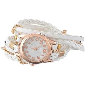 Souarts-Damen-Geflochten-Armbanduhr-Jugendliche-Maedchen-Armreif-Uhr-mit-Batterie-Zifferblatt-575cm