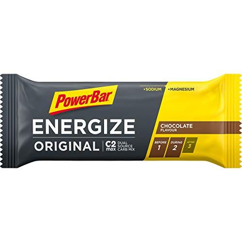 Energieriegel Energize mit Magnesium und Natrium – Fitness-Riegel, Kohlenhydrate Riegel mit Hafer und Früchten bei erhöhtem Energiebedarf – 25 x 55 g Chocolate