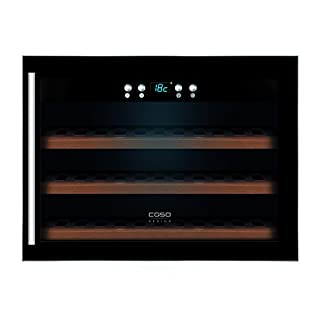 CASO-WineSafe-18-EB-Design-Einbauweinkhlschrank-fr-bis-zu-18-Flaschen-bis-zu-310-mm-Hhe-eine-Temperaturzone-5-20C-Getrnkekhlschrank-Energieklasse-A