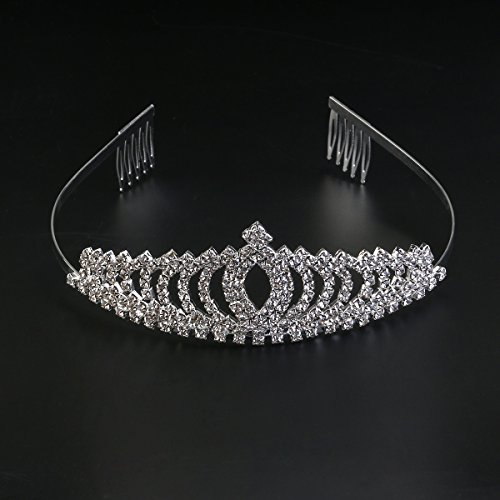 WINOMO Bridal Crown Stirnband Tiara Haarband for Hochzeit Party