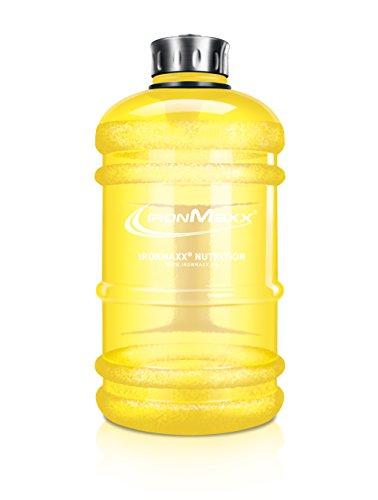 IronMaxx Water Gallon / 2,2l auslaufsichere Fitness Trinkflasche aus Plastik / BPA frei / Gelb