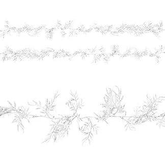 by-Robelli-Einzelbett-Packung-17m-M-Weihnachten-Glitzer-Blatt-Girlande-Dekoration