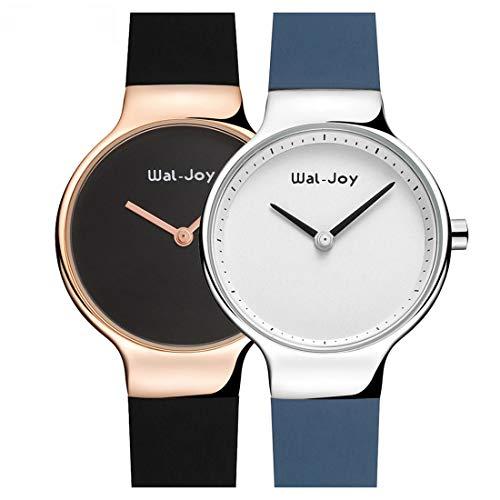 Godagoda-Damen-Armbanduhr-Silikon-Band-Einfarbig-Dekoriert-Abnehmbar-Frauen-Studenten-Wasserdicht-Quarzuhr