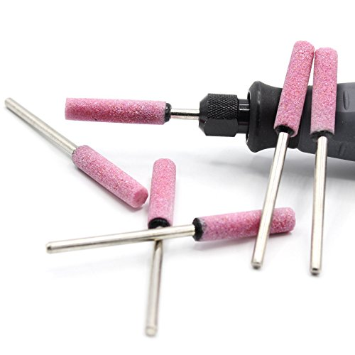 6x-Schleifsteine-Zylinder-4mm-fr-Dremel-Proxxon-Schleifer-Zubehr-Schleifstei-Multifunktionswerkzeug-zB-fr-Kettensge-Sgekette
