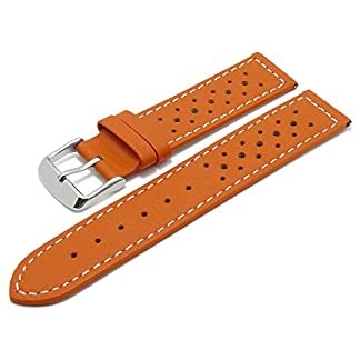 Meyhofer-EASY-CLICK-Uhrenarmband-Alton-20mm-orange-Leder-Racing-Look-helle-Naht-My2heml3028