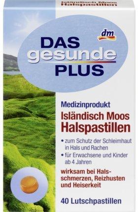 DAS gesunde PLUS Isländisch Moos Halspastillen, 40 St Medizinprodukt