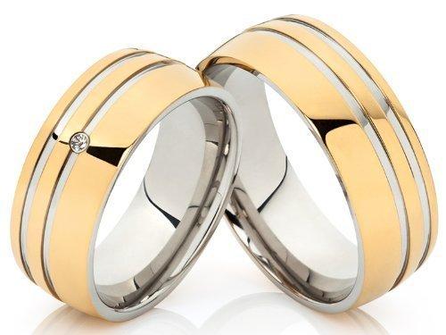 2 Trauringe Eheringe Verlobungsringe Hochzeitsringe Freundschaftsringe aus Edelstahl mit gratis Gravur