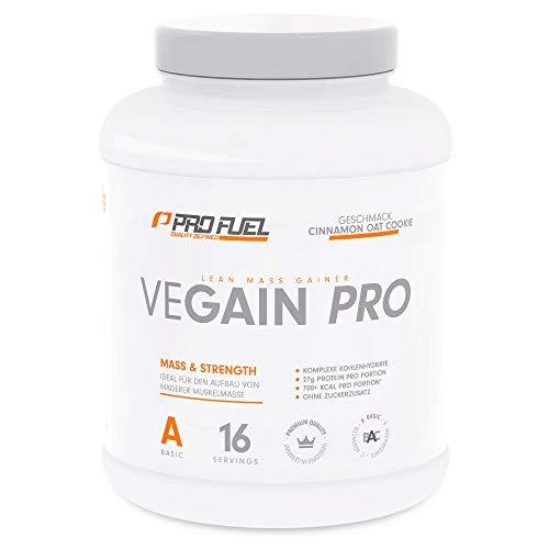 VEGAIN PRO   Weight & Mass Gainer   100% Vegan   Für Masseaufbau oder bei Untergewicht   Sehr lecker   Ohne Maltodextrin und zugesetzten Zucker   Made in Germany   2,2 kg – (CINNAMON OAT COOKIE)