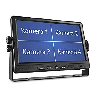Carmedien-9-Quad-Monitor-CM-NMR9Q4-4-Fach-Split-Screen-Video-Display-LCD-LED-TFT-Bildschirm-12V-24-Volt-Auto