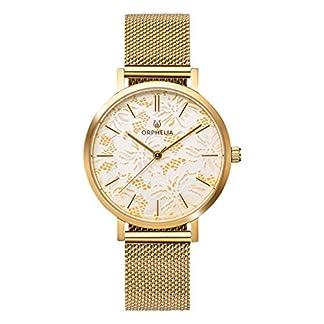 ORPHELIA-Damen-Analog-Armbanduhr-Lace-mit-Mesh-Edelstahl-Armband