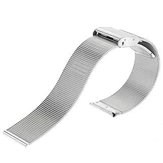 LUOEM-20mm-Edelstahl-Mesh-Uhrenarmband-Metallarmband