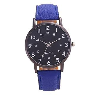 Armbanduhr-erthome-Frauen-Mnner-Uhr-Retro-Zeiger-Formel-Unisex-Kunstleder-Analog-Quarzuhr-Einstellbar-Lederband-Uhr
