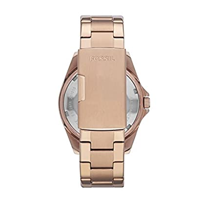 Fossil-Riley-Damen-Uhr-rosgold-Elegante-Edelstahl-Armbanduhr-mit-Strasssteinen-wasserfestes-Quarz-Uhrwerk-inkl-Wochentags-Datumsanzeige