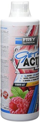 Frey Nutrition Get Active Drink – Himbeere, 1er Pack (1 x 1 kg)