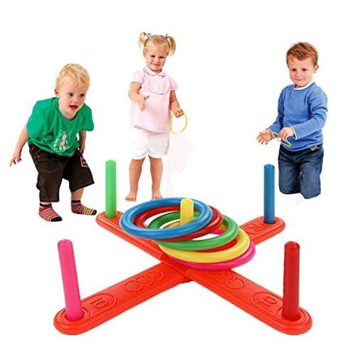 Gfone-Ringwurfspiel-Outdoor-Kinderspiele-Drauen-Spiele-fr-Kinder-und-Erwachsene-ab-3-Jahren-Spielzeug-Kit-Inklusive-Tragetasche