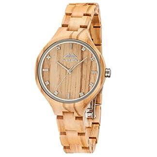 Amexi-Damen-Holzuhr-Analog-Quarzwerk-mit-Holz-Armband-Verstellbarem