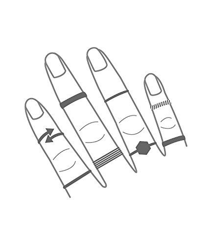 """SIX """"Basic"""" Set aus 7 goldfarbenen Damen Ringen in verschiedenen Größen, Halbfingerring, Mini Ring, Glitzer Schmuck Stein Weihnachtsgeschenk (439-667)"""