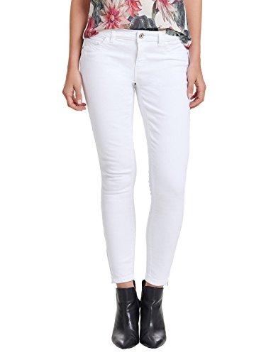 Only Damen Jeans-Hose OnlKendell Regular Ankle Skinny-Jeans weiß