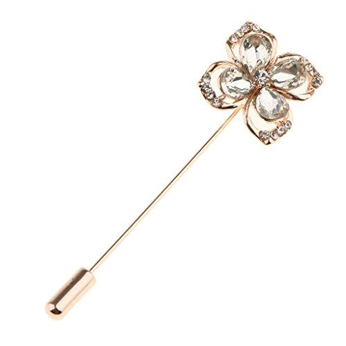 Prettyia Ansteckblumen Hochzeitsanstecker Brosche Pin Blumen förmig für Herren (farben auswählen)
