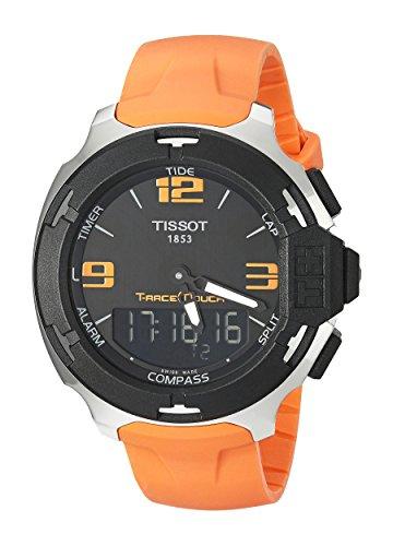Tissot-Herren-Armbanduhr-Analog-Digital-Quarz-Kautschuk-T0814201705702