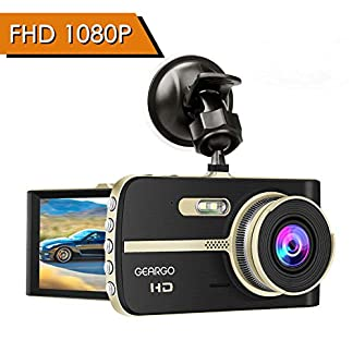 GEARGO-Dashcam-Full-HD-Autokamera-Video-Recorder-Dash-Camera-mit-4-Zoll-LCD-Bildschirm-WDR-Bewegungserkennung-Parkmonitor-Loop-Aufnahme-Nachtsicht-und-G-Sensor