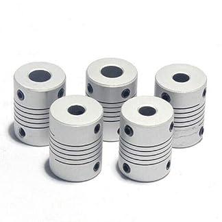 Sense-D19L25-Flexible-Wellenkupplungen-5-Stck-Aluminiumlegierung-flexible-Kupplung-fr-Connect-Servomotor-Schrittmotor-Maschinen-Plattform-usw