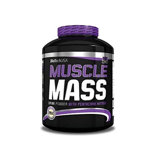 Muscle Mass Erdbeere 2270g – Gainer für den Masseaufbau – BiotechUSA