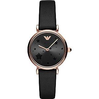Emporio-Armani-Damen-Analog-Quarz-Uhr-mit-Leder-Armband-AR11225