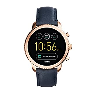 Fossil-Herren-Smartwatch-Q-Explorist-3-Generation-Leder-Klassische-Elegante-Smartwatch-im-Vintage-Design-mit-Diversen-FunktionenFr-Android-iOS