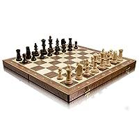 Master-of-Chess-Professionelle-TURNIER-Nr-5-Walnuss-48cm-19-Zoll-Holz-Schachspiel-Schachspiel-mit-Staunton-Figuren-handgefertigte-Classic-Game